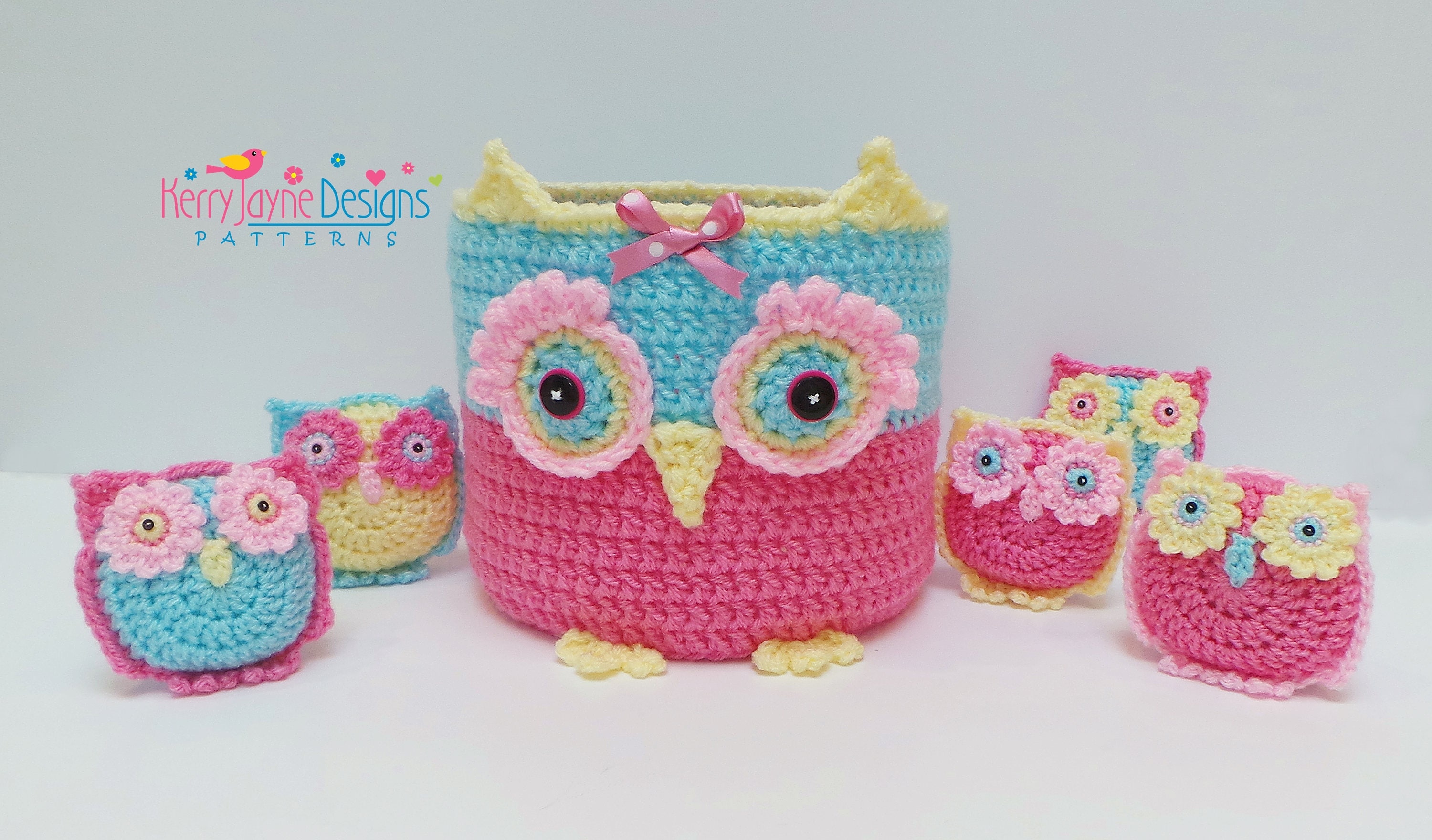 Owl basket family crochet pattern crochet owl basket pattern this is a digital file bankloansurffo Images