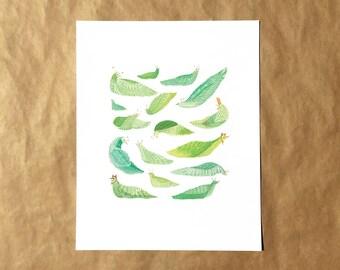 Slug Party Print