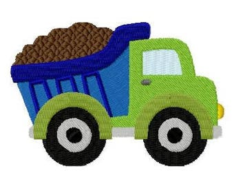 Embroidery Design Loaded Truck  4'x4' - DIGITAL DOWNLOAD PRODUCT