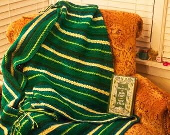 Green Striped Afghan