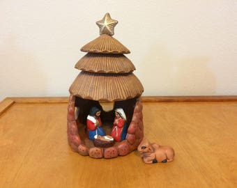 Clay Nativity Set from Mexico - Set of 5 - Religious Manger Scene