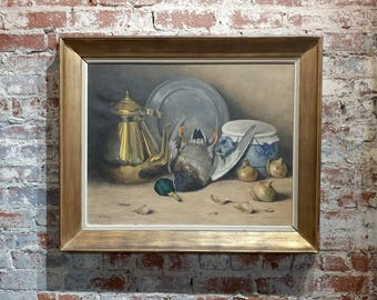 M. Moeng - Still Life w/Dead Game -19th century Oil painting