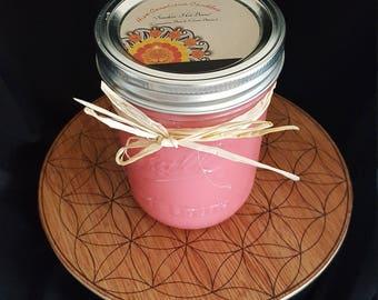 "16oz ""Smokin' Hot Bunz"" (cinnamon bun & creme brulee) scented all natural soy wax candle in mason jar"