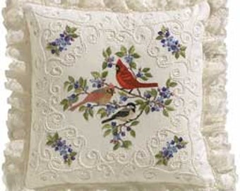 Birds & Berries Candlewicking Embroidery Kit