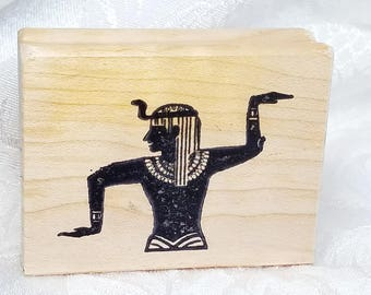 Egyptian Rubber STamp, King Tut Stamp, Craft Altered Art Rubber STamp, Egyptian Stamp, Isis Stamp, Craft, Card Making, Egypt, Art Journal
