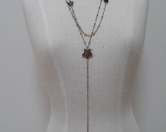 Sterling silver and Hematite star necklace.