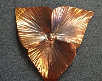 Signed Stuart Nye Copper Trillium Brooch- with bonus Brooch! Free shipping