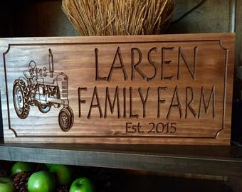 Personalized Carved Sign, Family Name Sign, Farm Sign, Wooden Sign, Carved Signs Wood Signs, Outdoor Carved Signs, Personalized Sign Rustic