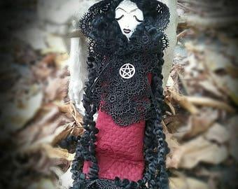 Victorian Goth Vamp Hag ~ Poppet ~ Spirit Doll ~ Samhain ~ Halloween~