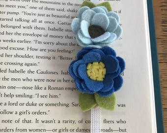 Felt Bookmark, Felt Flower Bookmark, flet flowers, journal, birthday gift, friend gift, teacher gift, summer reading, bookworm