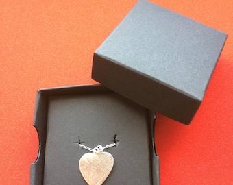 irregular shaped Silver heart necklace