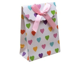 3 bags gift 16 cm cardstock and satin ribbon rose