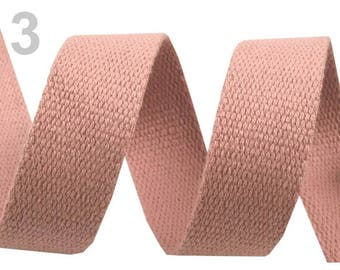 Cotton strap 30 pink 3 mm