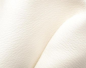 "NZ Deer Sale Off White Sand Leather New Zealand Deer Hide 8""x 10"" Pre-cut 3 1/2-4 ounces-19 DE-66135 (Sec. 4,Shelf 2,B)"
