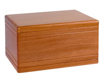 Mahogany Boxwood Wood Cremation Urn