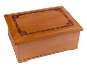 Mahogany Renaissance Wood Cremation Urn