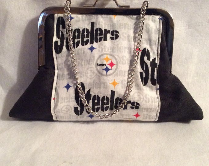 Black and Gold Pittsburgh Steelers Clutch Purse Handbag