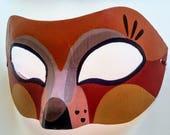 Halloween Fox Mask, Hand Painted, Fox, Papier Mache, Face Mask, Spirit Animal