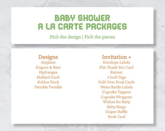 Baby Shower A La Carte Packages