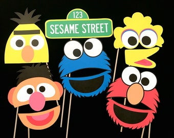 Sesame Street Themed Photo Booth Props