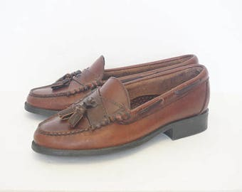 Vintage 90's Sebago Brown Tassel Loafers- Womens Size 6.5
