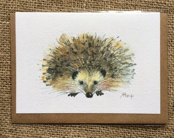 Hedgehog greetings card, blank inside