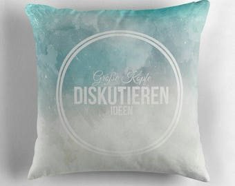 Great minds discuss ideas © hatgirl.de (happiness, philosophy, strong children) living room cushion with cover