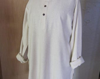Silk ivory M men shirt