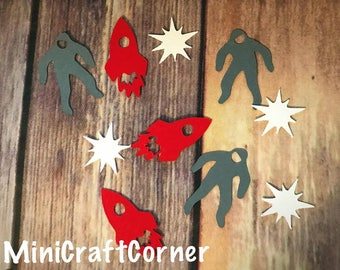 Space Confetti. Space Party. Astronaut Party. Astronauts and Space Confetti. Outer Space Confetti. Galaxy Party. Astronaut and Space.