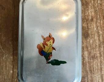 Vintage Japanese Fox Tin