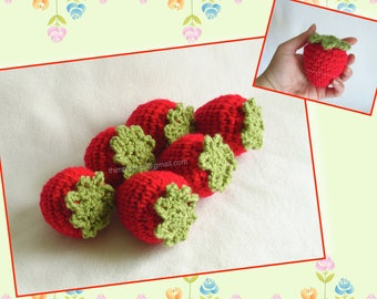 Giant Crochet Strawberry Decoration