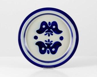 Stoneware plate, German stoneware, ceramic plates, gray blue ceramic, German pottery plates, heavy ceramic dinner plates