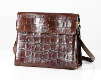 Picard leather bag, Picard leather handbag, brown leather bag, brown handbag, German design bag
