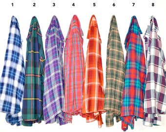 Buy TWO Get One FREE - Premium Vintage Large Flannel Shirts - Unisex Large - You Pick Your Flannel!