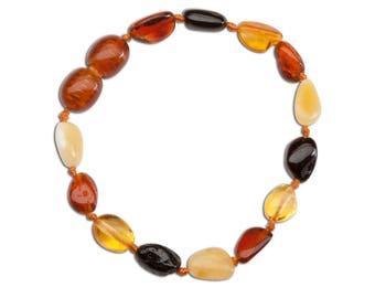 Genuine Baltic Amber Teething Bracelet (ATBP-Multi)