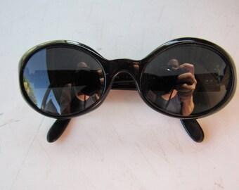 Vintage Black Prescription French Sunglasses