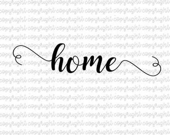 home SVG DXF cut file - silhouette - cameo - cricut