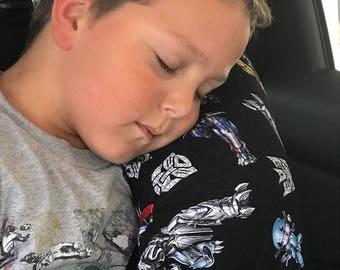 Transformers Seat Belt Pillow- kids travel pillow