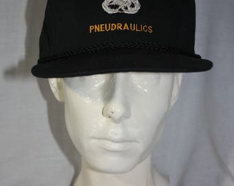 Vintage LOOKING GLASS PNEUDRAULICS Trucker Hat United States Army Aircraft