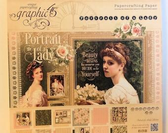 "Graphic 45 ""Portrait of a Lady"" 8"" x 8""  Patterns & Solids"