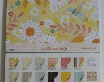 "SEI ""Vanilla Sunshine"" 12"" x 12"" Paper Pack and extra sheets"
