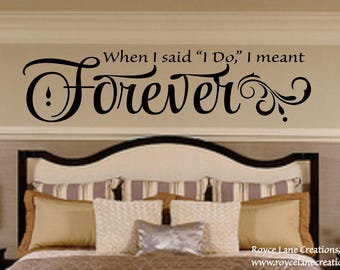 Romantic Bedroom Wall Decals bedroom wall decal always on my mind forever in my heart