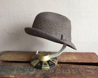 Vintage Hat Fedora size 7 3/8