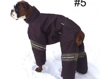 Custom Fit ! Dog Winter Clothes Snowsuit Overall Winter Full Body Jacket Dog Winter Coat. Custom Made.
