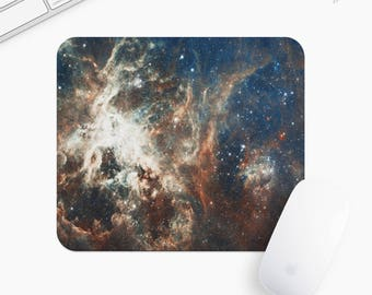 Galaxy and Stars Mouse Pad, Universe Mousepad, Rectangle or Round, Gift mp0005