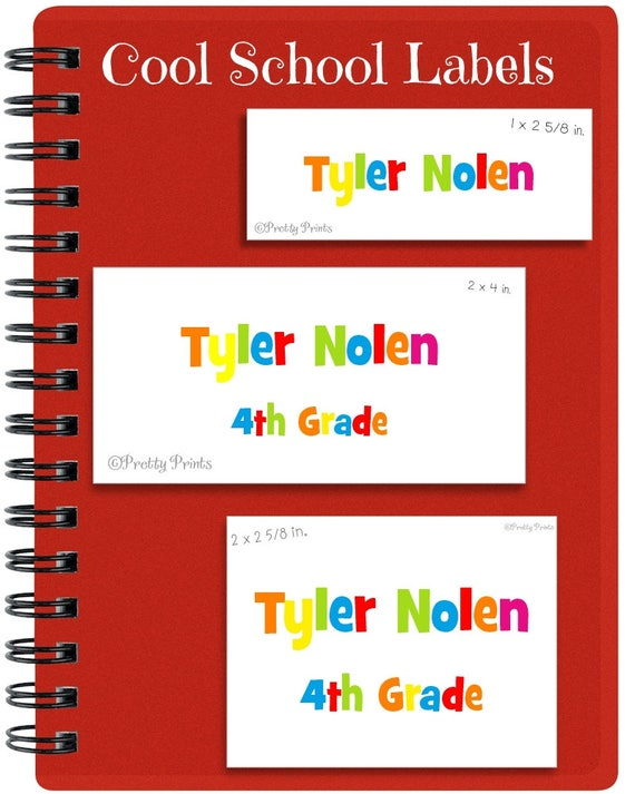 School Labels, Back to School, Initial, Personalized Stickers, Personalized Labels, Colorful Letters, Labels, Name Tags