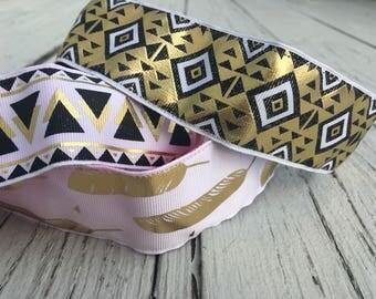 Wide Gold Non Slip Headband || Wide - Metallic - Workout Headband - No Slip - Nonslip Headband - Gift