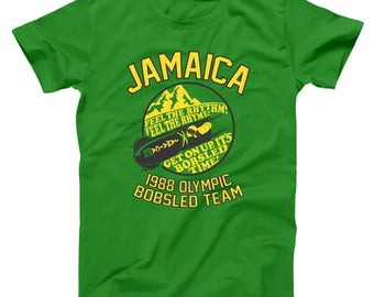 Jamaica 1988 Olympic Bobsled Team Funny Cool Runnings Movie Basic Men's T-Shirt DT0101