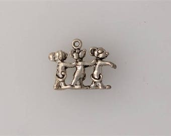 Sterling Silver 3-D Three Blind Mice Charm