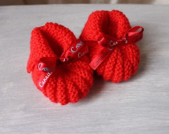 "NOVELTY baby pumpkin slippers ""scoundrel"" Ribbon, 3/6 months"